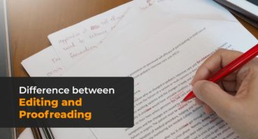 difference between Editing and Proofreading
